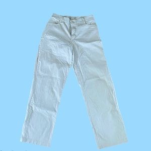 Off white straight legged pants